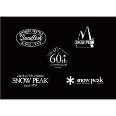 Snow Peak(スノーピーク)キャンプ用品 キャンピングアクセサリー 60th ロゴ アソート シール NV-060