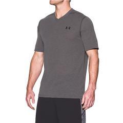 (セール)UNDER ARMOUR(アンダーアーマー)メンズスポーツウェア 半袖機能Tシャツ 18S UA THREADBORNE VNECK SS 1325168 9IN メンズ CBH/BLK