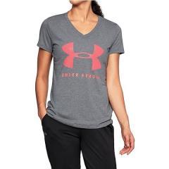 (セール)UNDER ARMOUR(アンダーアーマー)レディーススポーツウェア Tシャツ 18S UA TBORNE TRAIN GRPH TWIST SSV 1309895 5RV レディース GPH/BRL/MSV