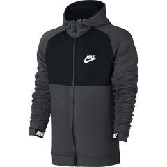 (送料無料)NIKE(ナイキ)メンズスポーツウェア ジャケット ナイキ AV15 フルジップ フリース フーディ 861743-071 メンズ チャコールヘザー/ブラック/ブラック/(ホワイト)