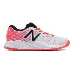 (セール)New Balance(ニューバランス)レディーステニスシューズ WCH696C3 2E WCH696C3 2E レディース WHITE/BLACK