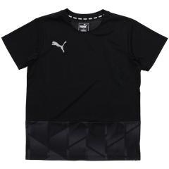 (セール)PUMA(プーマ)サッカー ジュニア半袖プラクティスシャツ FTBLNXT グラフィックシャツ ジュニア 65581901 ボーイズ ブラック