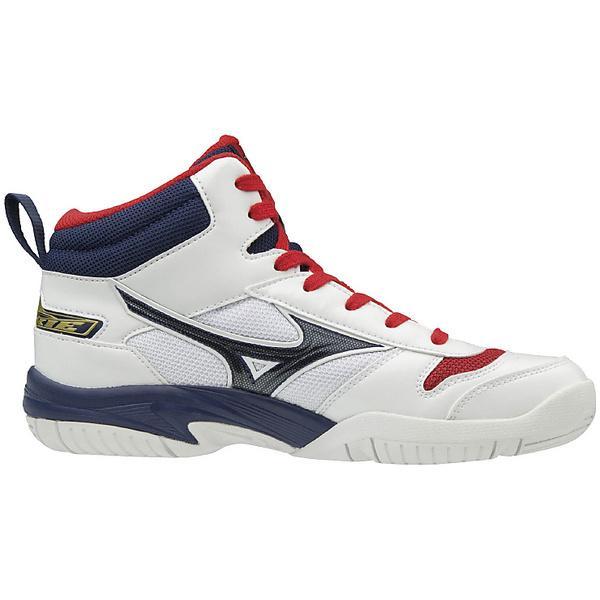 (送料無料)MIZUNO(ミズノ)バスケットボール ジュニア シューズ ROOKIE BB4 W1GC177015 ジュニア ホワイトxネイビーxレッド