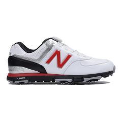 (送料無料)New Balance(ニューバランス)ゴルフ メンズゴルフシューズ MGB574WR D MGB574WR D メンズ WHITE/RED