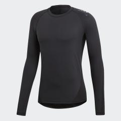(セール)adidas(アディダス)メンズスポーツウェア コンプレッション長袖 ALPHASKIN TEAM ロングスリーブTシャツ EBR74 CF7267 メンズ ブラック