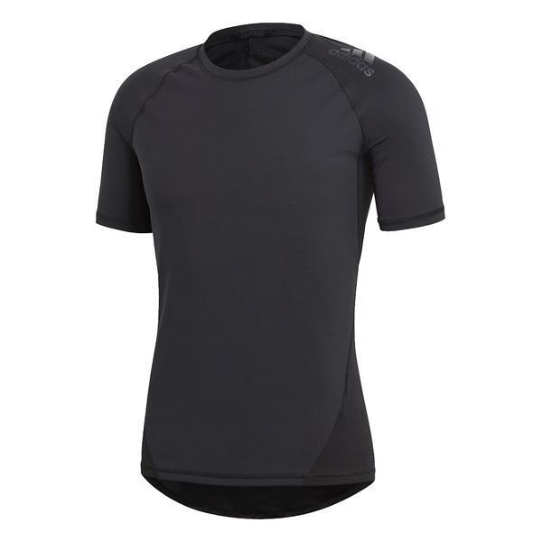 (セール)adidas(アディダス)メンズスポーツウェア コンプレッション半袖 ALPHASKIN TEAM ショートスリーブTシャツ EBR77 CF7235 メンズ ブラック