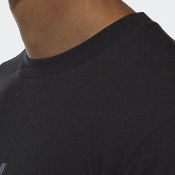 (セール)adidas(アディダス)メンズスポーツウェア 半袖機能Tシャツ M ESSENTIALS ビッグリニアロゴ 半袖Tシャツ ETZ64 CX3326 メンズ ブラック/アイロンメット