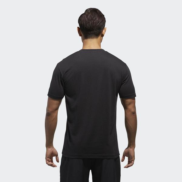 (セール)adidas(アディダス)メンズスポーツウェア 半袖機能Tシャツ M ESSENTIALS ビッグリニアロゴ 半袖Tシャツ ETZ64 CX3327 メンズ ブラック/ゴールドメット