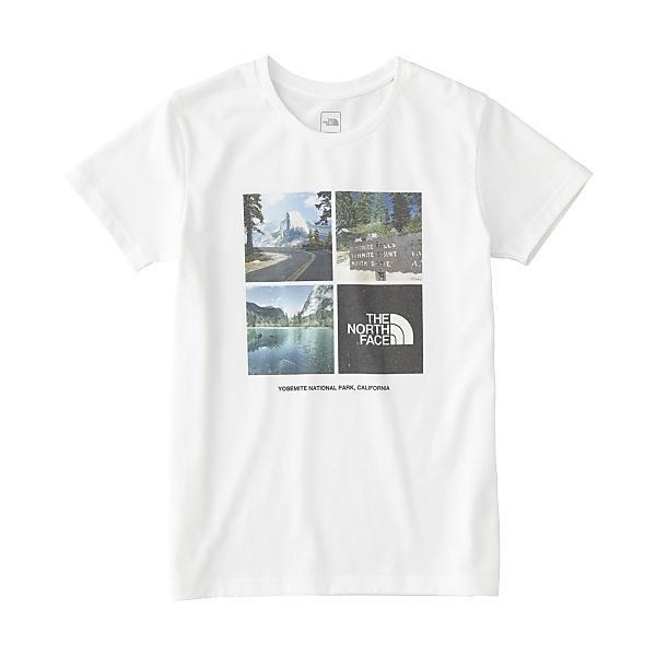 THE NORTH FACE(ノースフェイス)トレッキング アウトドア 半袖Tシャツ S/S PHOTO LOGO TEE NTW31851 W  レディース W