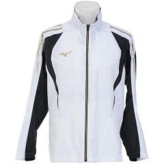 (セール)MIZUNO(ミズノ)メンズスポーツウェア ウインドアップジャケット NC MCL ウインドBシャツ 32JE801701 メンズ ホワイトxゴールド