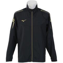 (セール)MIZUNO(ミズノ)メンズスポーツウェア ウインドアップジャケット NC MCL ウインドBシャツ 32JE801709 メンズ ブラックxゴールド