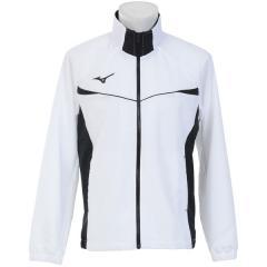 (セール)MIZUNO(ミズノ)メンズスポーツウェア ウインドアップジャケット TSA クロスシャツ 32JC814801 メンズ ホワイトxレッド