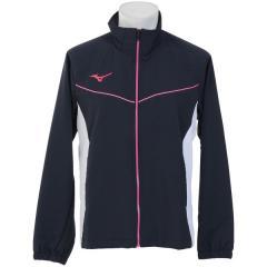 (セール)MIZUNO(ミズノ)メンズスポーツウェア ウインドアップジャケット TSA クロスシャツ 32JC814814 メンズ ネイビーxホワイト