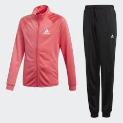 <LOHACO> (セール)adidas(アディダス)ジュニアスポーツウェア ウォームアップスーツ G ジャージ上下セット(ジョガーパンツ)AAW16 CF7303 ガールズ リアルピンク S18/ホワイト画像