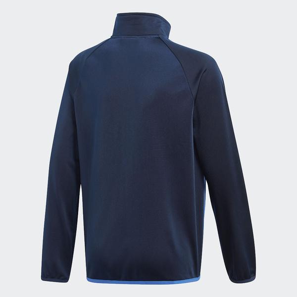 (セール)adidas(アディダス)ジュニアスポーツウェア ウォームアップスーツ B ジャージ上下セット(ジョガーパンツ)AAW94 CF7345 ボーイズ ハイレゾブルー S18/カレッジネイビー/ホワイト