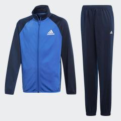 <LOHACO> (セール)adidas(アディダス)ジュニアスポーツウェア ウォームアップスーツ B ジャージ上下セット(ジョガーパンツ)AAW94 CF7345 ボーイズ ハイレゾブルー S18/カレッジネイビー/ホワイ画像