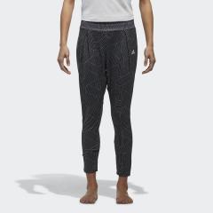 (セール)adidas(アディダス)ヨガ ロングパンツ W YG グラフィックニットレギンス EUD13 CX3656 レディース ブラック