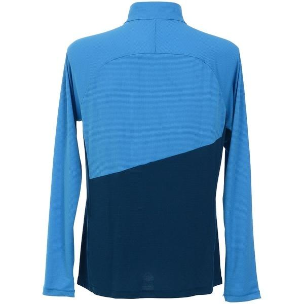 (セール)(送料無料)MILLET(ミレー)トレッキング アウトドア 長袖Tシャツ ELEVATION ZIP LS MIV7683 8286 メンズ POSEIDON/ELECTRIC BLUE