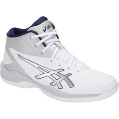 (送料無料)ASICS(アシックス)バスケットボール ジュニア シューズ GELPRIMESHOT SP 4 TBF140.0196 ジュニア ホワイトxソフトグレー
