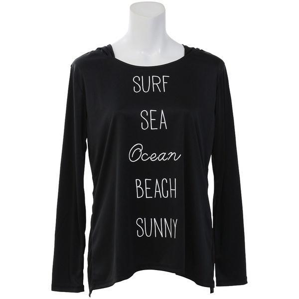 (セール)ocean pacific(オーシャンパシフィック)サマー レジャー レディースラッシュガード LADYS RASHL/STEE 528462 レディース BLK