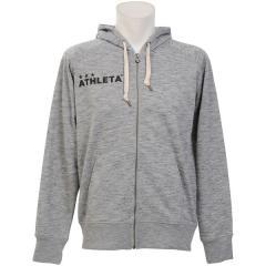 (セール)ATHLETA(アスレタ) フットサル スウェット カラースウェットZIPパーカー 03312GRY GRY