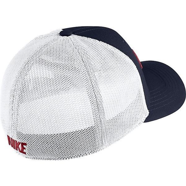 NIKE(ナイキ)スポーツアクセサリー 帽子 ナイキ YTH エアロビル CLC99 スウッシュフレックス メッシュ キャップ 849531-452 ボーイズ 1SIZE オブシディアン/ホワイト/ブラック/(ユニバーシティレッド)