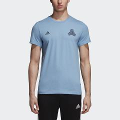 adidas(アディダス)サッカー その他アパレル TANGO STREET ロゴAOP Tシャツ FAP98 DJ1472 アッシュブルー S18