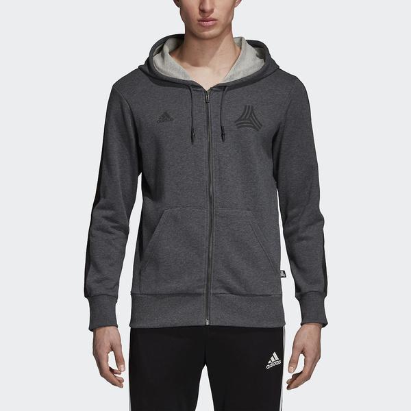 (セール)adidas(アディダス)サッカー ウォームアップ TANGO STREET スウェットフードジャケット FAQ03 DJ1500 ダークグレイヘザー