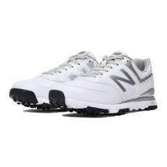(セール)(送料無料)New Balance(ニューバランス)ゴルフ メンズゴルフシューズ MGS574WS D MGS574WS D メンズ WHITE/SILVER