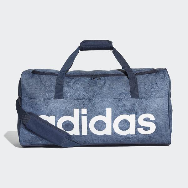 (セール)adidas(アディダス)スポーツアクセサリー ボストンバッグ リニアロゴチームバッグM ENM79 DJ1422 M ロースティール S18/カレッジネイビー/ホワイト