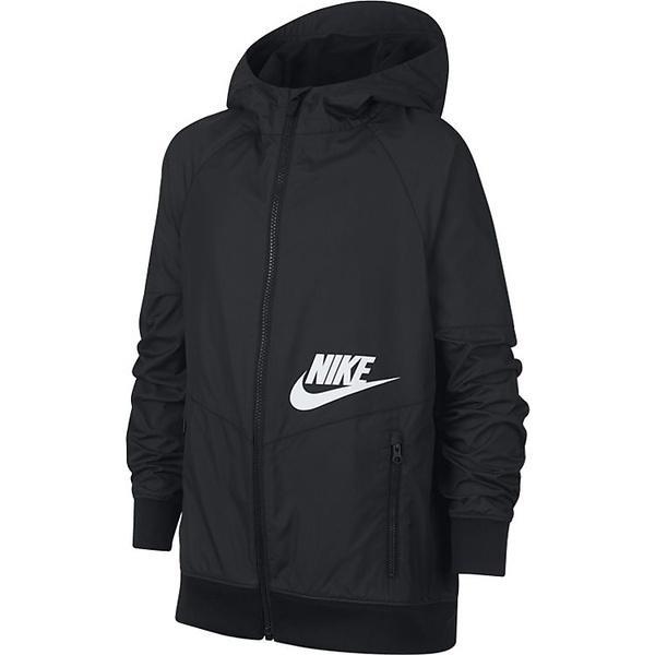 (セール)NIKE(ナイキ)ジュニアスポーツウェア ウインドジャケット ナイキ YTH フルジップ ウィンドランナー 939558-010 ボーイズ ブラック/ブラック/ブラック/(ホワイト)