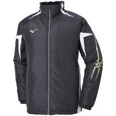 (セール)MIZUNO(ミズノ)メンズスポーツウェア ウインドアップジャケット MC 中綿ウォーマーシャツ(ブレスサーモ) 32JE853009 メンズ 09 ブラックxホワイトxゴールド