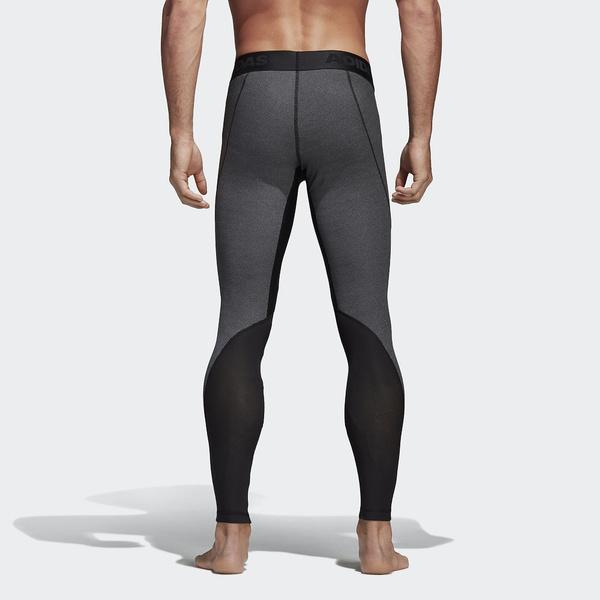 (セール)adidas(アディダス)メンズスポーツウェア コンプレッションボトムス ALPHASKIN TEAM ヘザーロングタイツ DRG82 CD7216 メンズ ダークグレイヘザー/ブラック