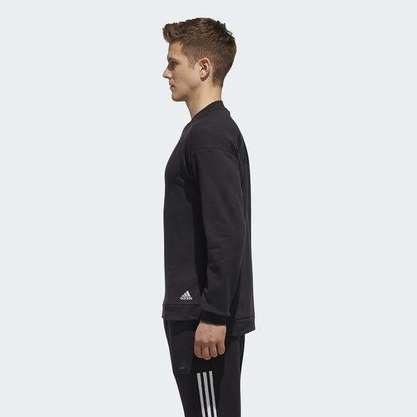 adidas(アディダス)メンズスポーツウェア ジャケット M SPORTS ID ビッグリニアロゴ クルーネックスウェット(裏起毛)FAT31 DH3977 メンズ ブラック