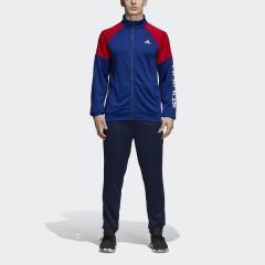 (送料無料)adidas(アディダス)メンズスポーツウェア ウォームアップスーツ M リニアロゴ ライトスウェット トラックスーツ EDO41 CY2306 メンズ ミステリーインクF17/スカーレット/ホワイト
