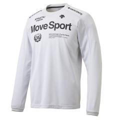 (セール)DESCENTE(デサント)メンズスポーツウェア 長袖機能Tシャツ HEAT NAVI CARAT ロングスリーブシャツ DMMMJB63 WH メンズ WH