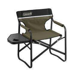 (セール)COLEMAN(コールマン)キャンプ用品 ファミリーチェア サイドテーブルデッキチェアST(オリーブ) 2000033809