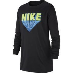 NIKE(ナイキ)バスケットボール ジュニア 長袖Tシャツ ナイキ YTH ドライ レジェンド ZOOM NIKE L/S Tシャツ AA8896-010 ボーイズ ブラック