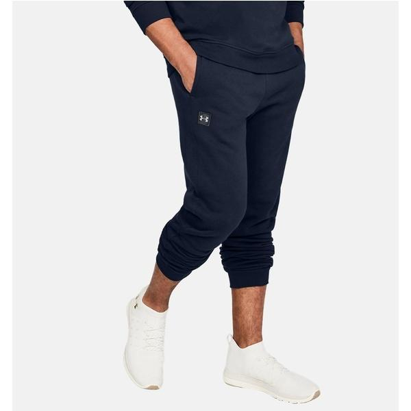 Under Armour Rival Mens Fleece Joggers Men's Clothing Navy Latest Technology