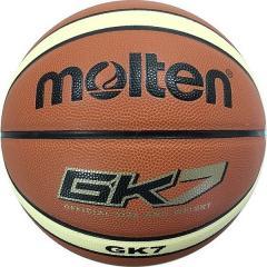 (セール)molten(モルテン)バスケットボール 7号ボール 人工皮革バスケットボール BGK7 メンズ 7号球 ブラウンxクリーム