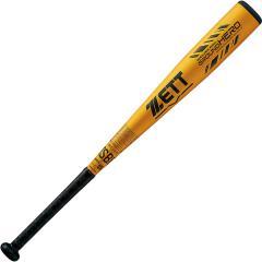 (送料無料)ZETT(ゼット)野球 少年軟式メタルバッド JR.ナンシキアルミバット グランドヒーロー BAT74976-8200 ゴールド8200