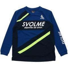 (セール)SVOLME(スボルメ) サッカー ジュニア長袖プラクティスシャツ JR長袖トレーニングトップ 183-85900 ジュニア BLUE