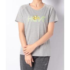 (セール)HeM sports(ヘム スポーツ)レディーススポーツウェア Tシャツ コラボロゴTシャツ HM-S19-011-028 レディース グレー杢