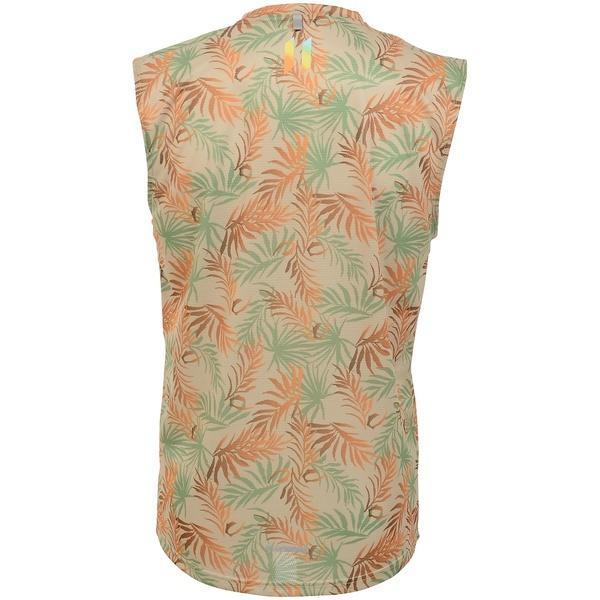 (セール)Number(ナンバー)ランニング メンズ半袖Tシャツ RUN リーフプリント ノースリーブTシャツ NB-S19-008-025 メンズ ブラウン