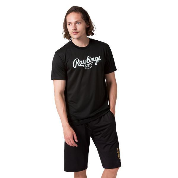 (セール)Rawlings(ローリングス)野球 半袖Tシャツ スクリプトロゴTシャツ AST9S11 B