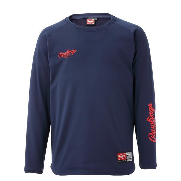 (セール)Rawlings(ローリングス)野球 ウォームアップ クルーネックシャツ(裏起毛) AOS9S51 N