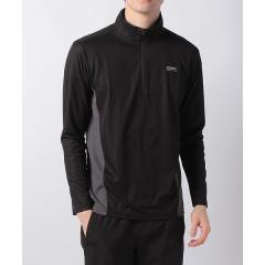 (セール)Alpine DESIGN(アルパインデザイン)トレッキング アウトドア 長袖シャツ ハーフジップ長袖シャツ AD-S19-014-004 BLK メンズ ブラック