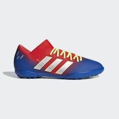 (セール)adidas(アディダス)サッカー ジュニアターフ ネメシス メッシ 18.3 TF J CED78 CM8636 ボーイズ アクティブレッドS19/シルバーメット/フットボールブルー