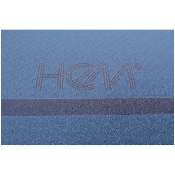 HeM sports(ヘム スポーツ)ヨガ マット リバーシブルヨガマット HM-Y19-011-033 ネイビー/ブルー