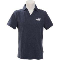 (セール)PUMA(プーマ)メンズスポーツウェア 半袖ベーシックポロシャツ ESS+ オープンポロシャツ 84387006 メンズ ピーコート ヘザー